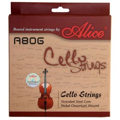 Струны для виолончели Alice A806 в упаковке