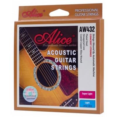 Струны для акустической гитары Alice AW432-SL в упаковке