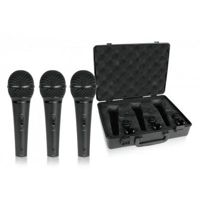 3 микрофона в кейсе Behringer ULTRAVOICE XM1800S