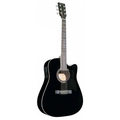 Электроакустическая гитара Caraya F641EQ-BK