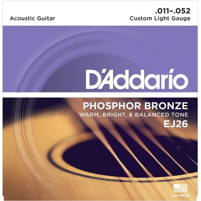 Струны для акустической гитары D'Addario EJ26